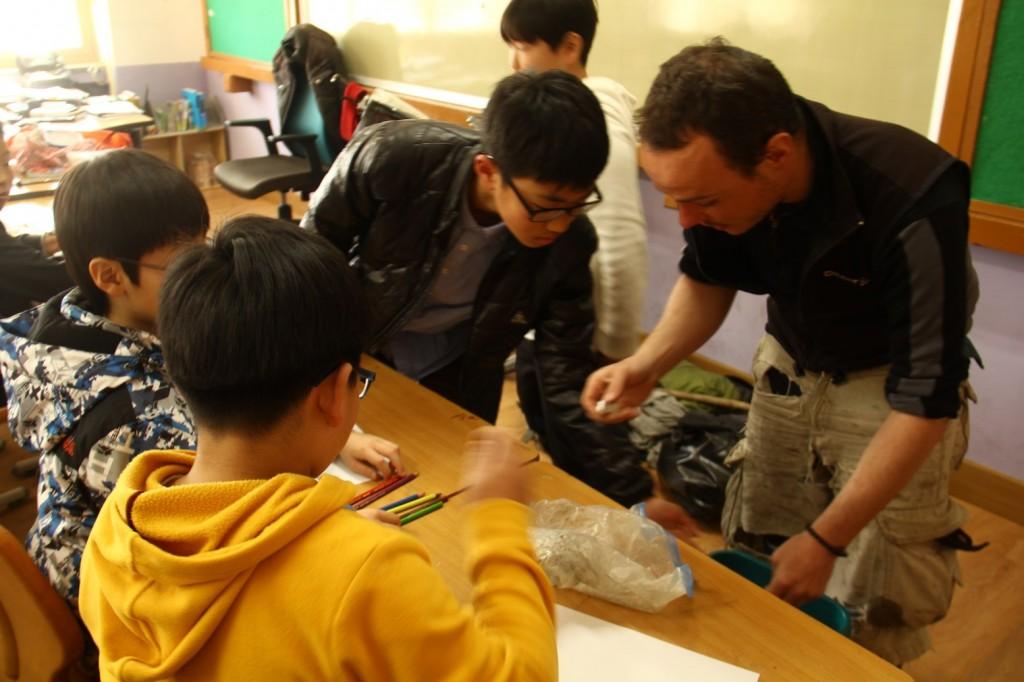 Animation dans une école de Corée