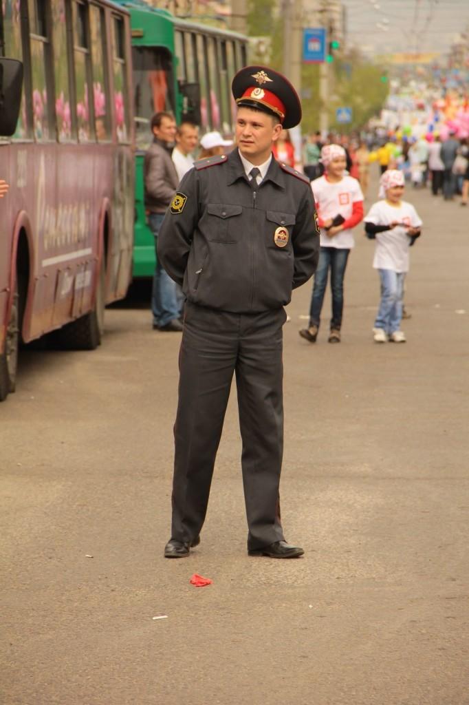 Policier à son poste