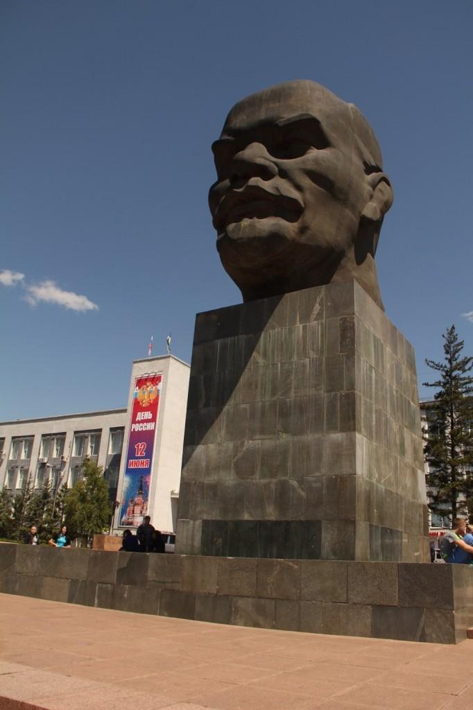 Lénine a la grosse tête à Ulan-Ude