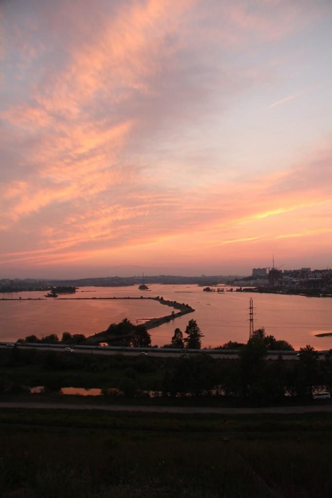 Et au coucher du soleil