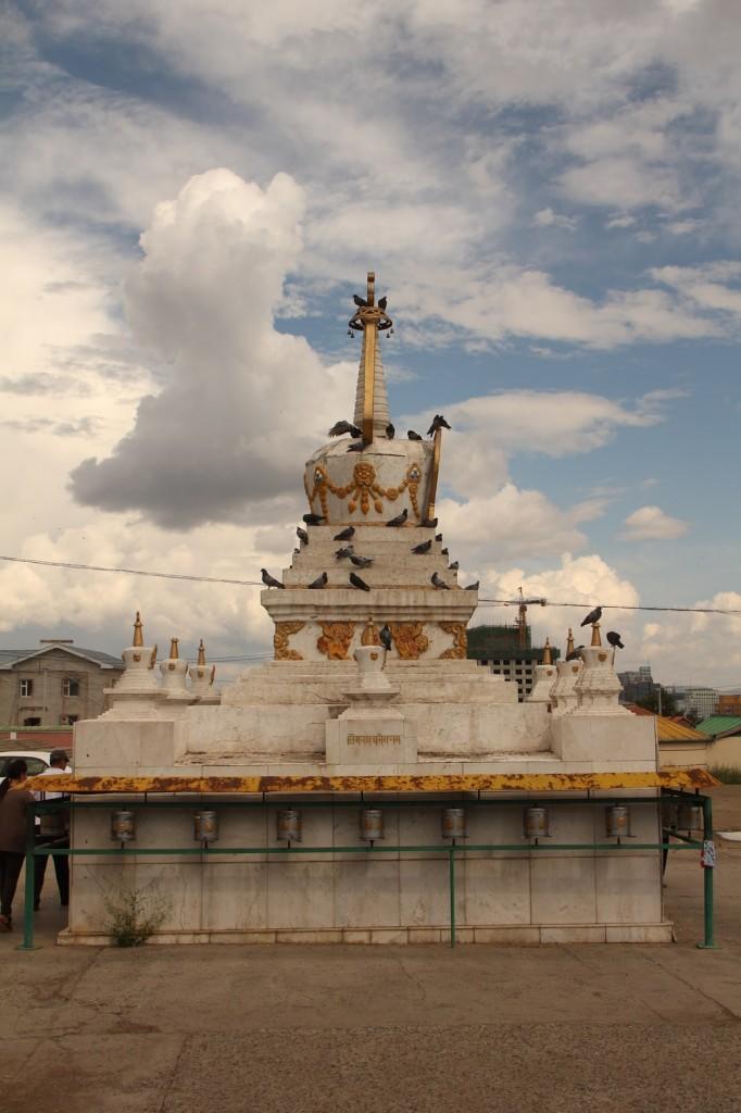 Stupa dans un temple d'Oulan-Bator