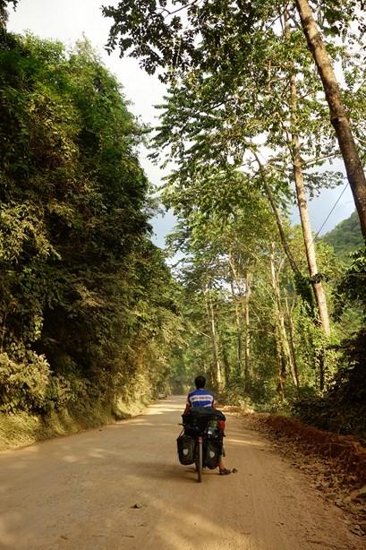 Certain bout ne sont pas asphalté, mais c'est avec plaisir que nous grimpons dans cette jungle et sur ces petites routes