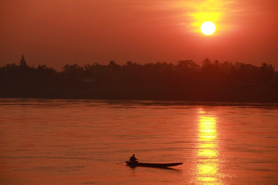 ... et un coucher de soleil lors de notre campement