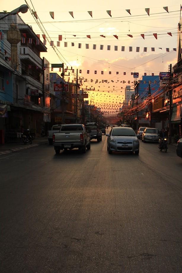 Fin de journée sur Chiang Rai.