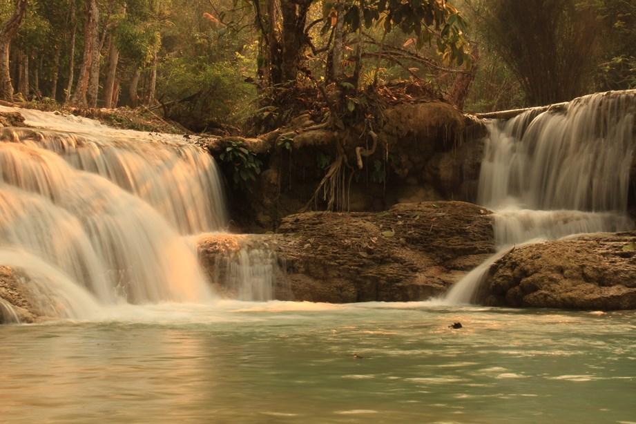 Et à Luang Prabang, petit (re)tour par les cascades.