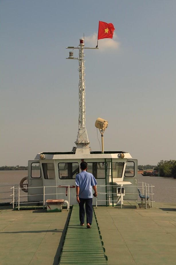 Tout en haut du grand ferry