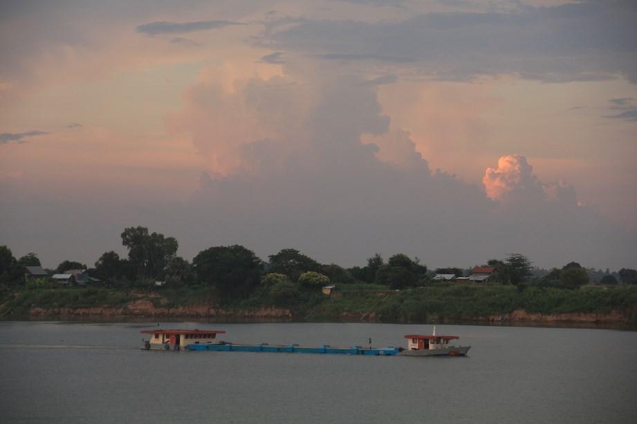 Fin de journée sur le Mékong depuis Phnom Penh