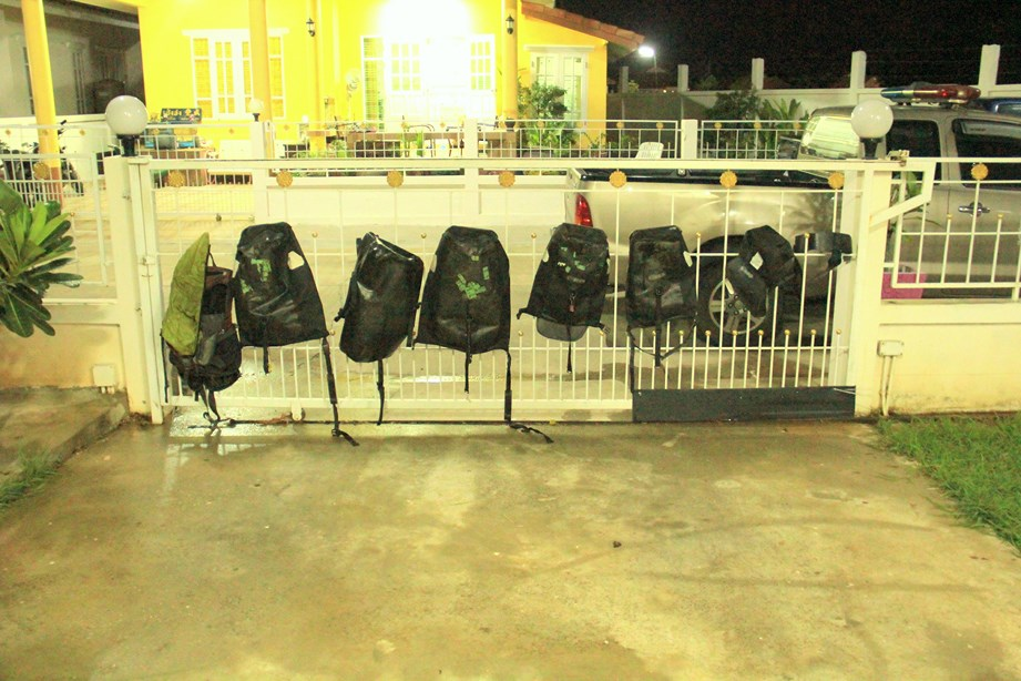 La préparation bat son plein avec le lavage et le séchage des sacoches