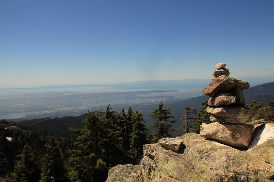 Vue de Vancouver depuis le sommet du Mont Seymour