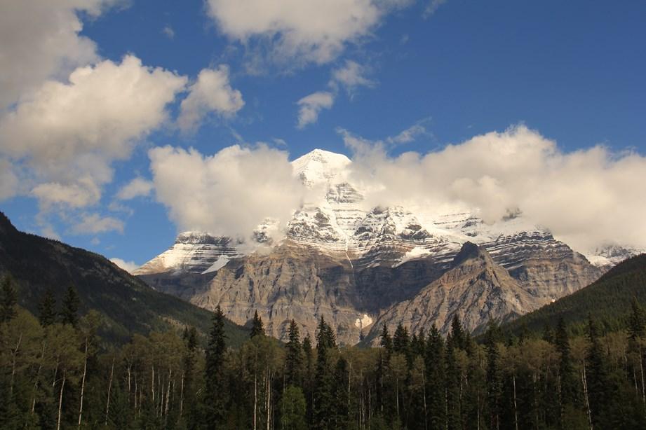 Nous faisons nos adieux au Mont Robson après cinq nuit à ses pieds