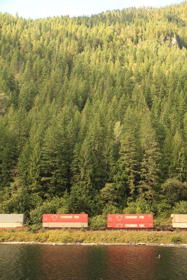 Les trains cargos qui traversent le pays