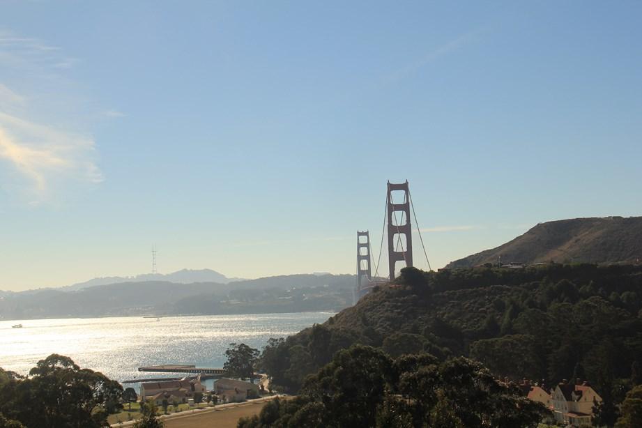 Première vue sur le Golden Gate Bridge
