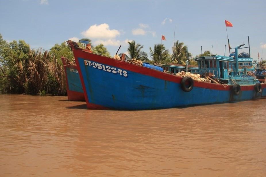 De l'effervescence au calme, une transition en delta (du Mékong)